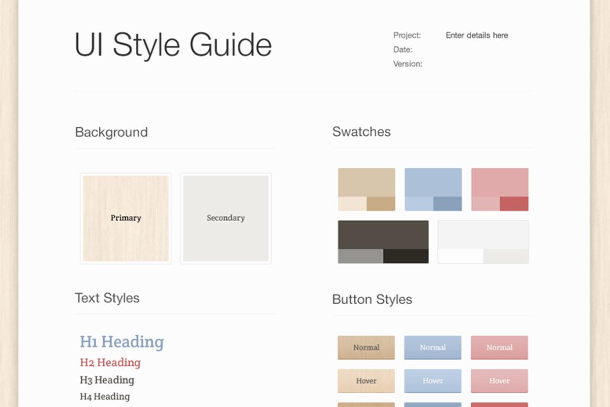 Light Wood UI Style Guide     Medialoot