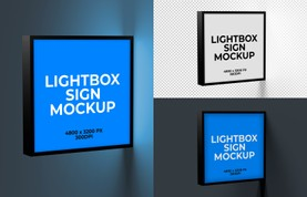 Lightbox Sign Mockup