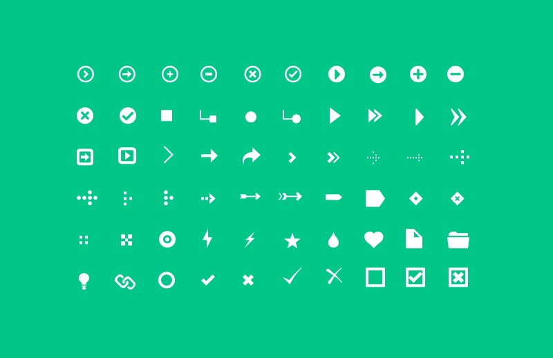 Listicons 2 - Arrows & Bullets