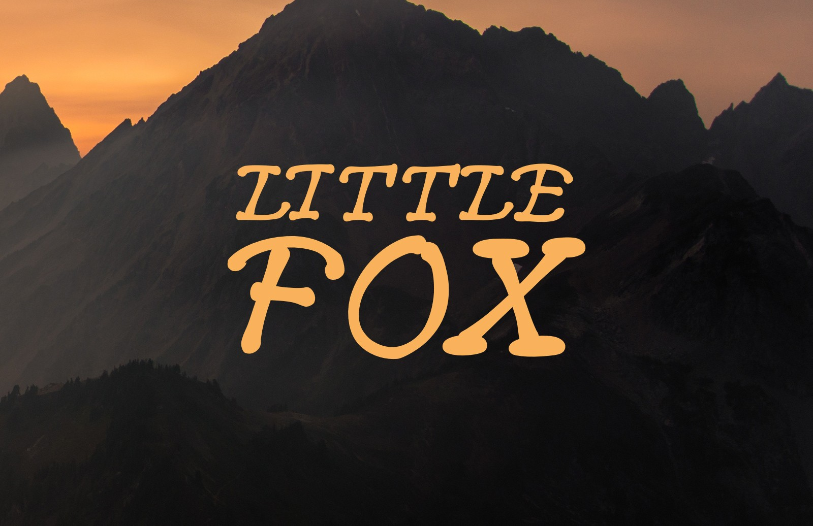 Large Little  Fox  Font  Preview 1