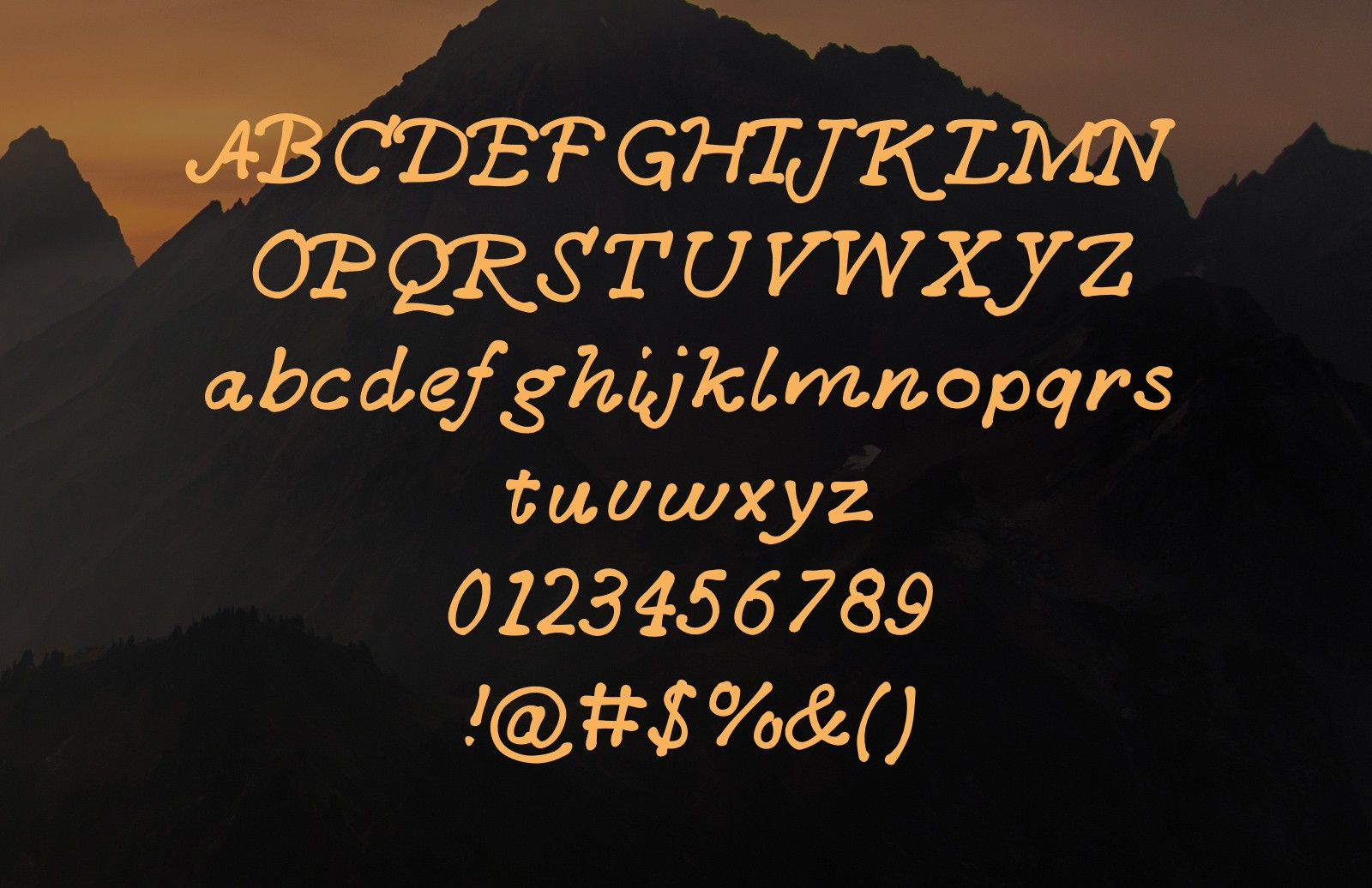 Large Little  Fox  Font  Preview 2