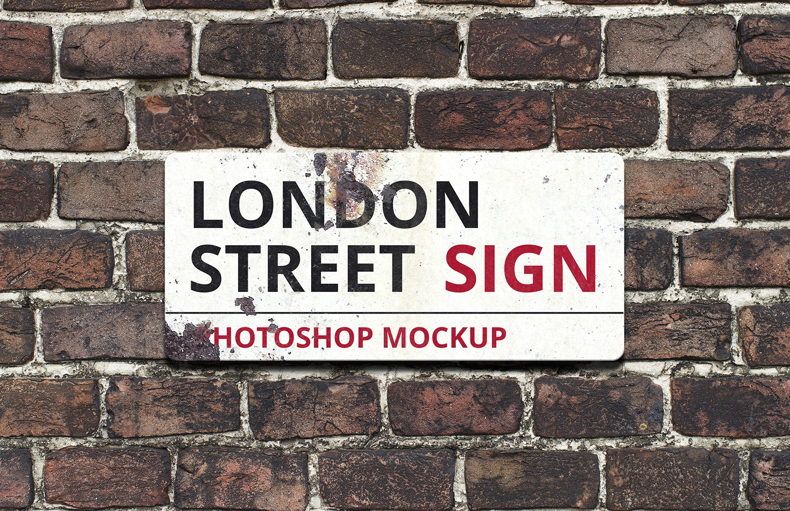 London Street Sign Mockup