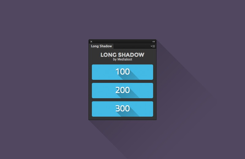 Long Shadow Generator Panel
