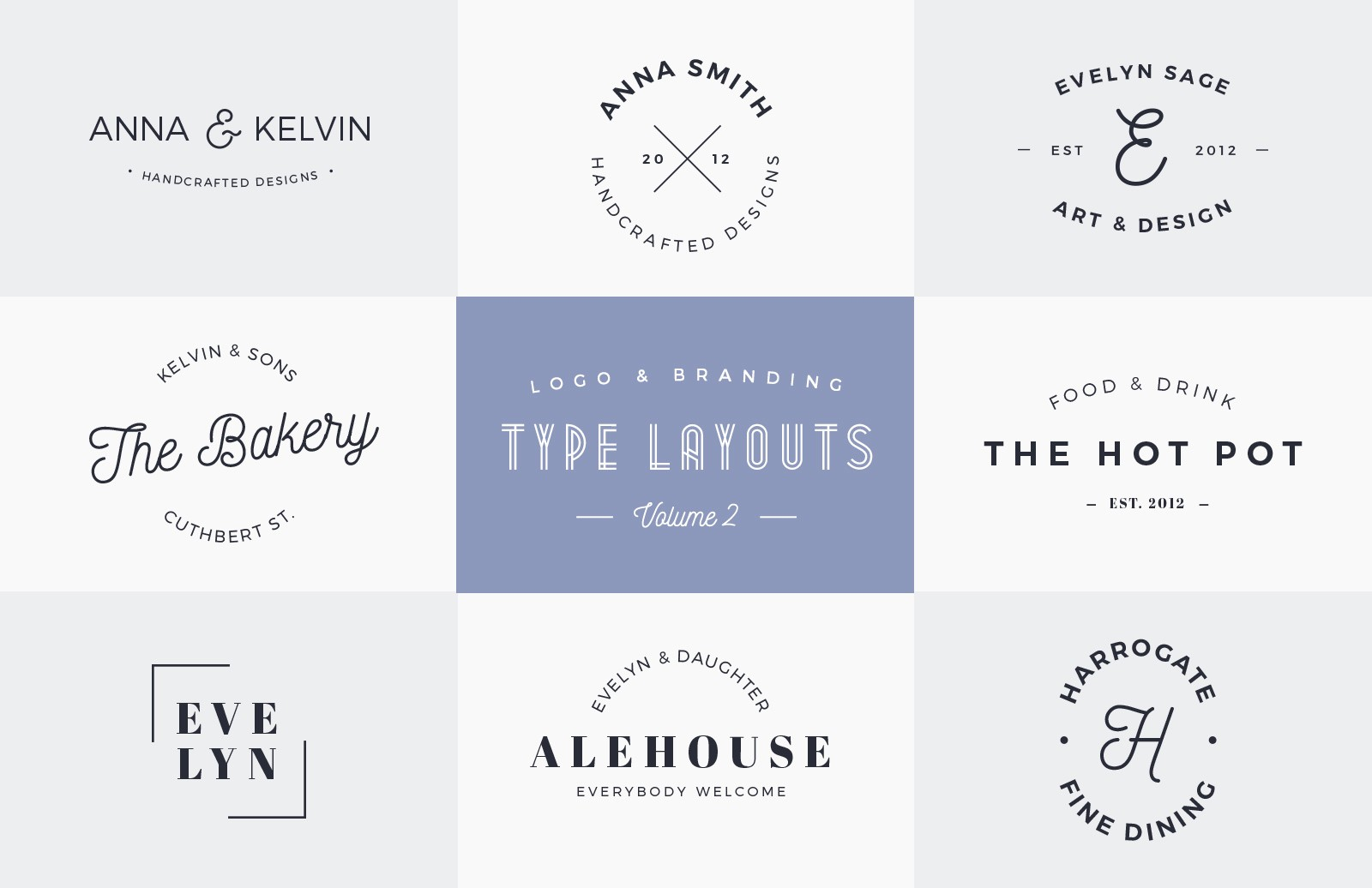 Logo & Branding Type Layouts - Vol 2