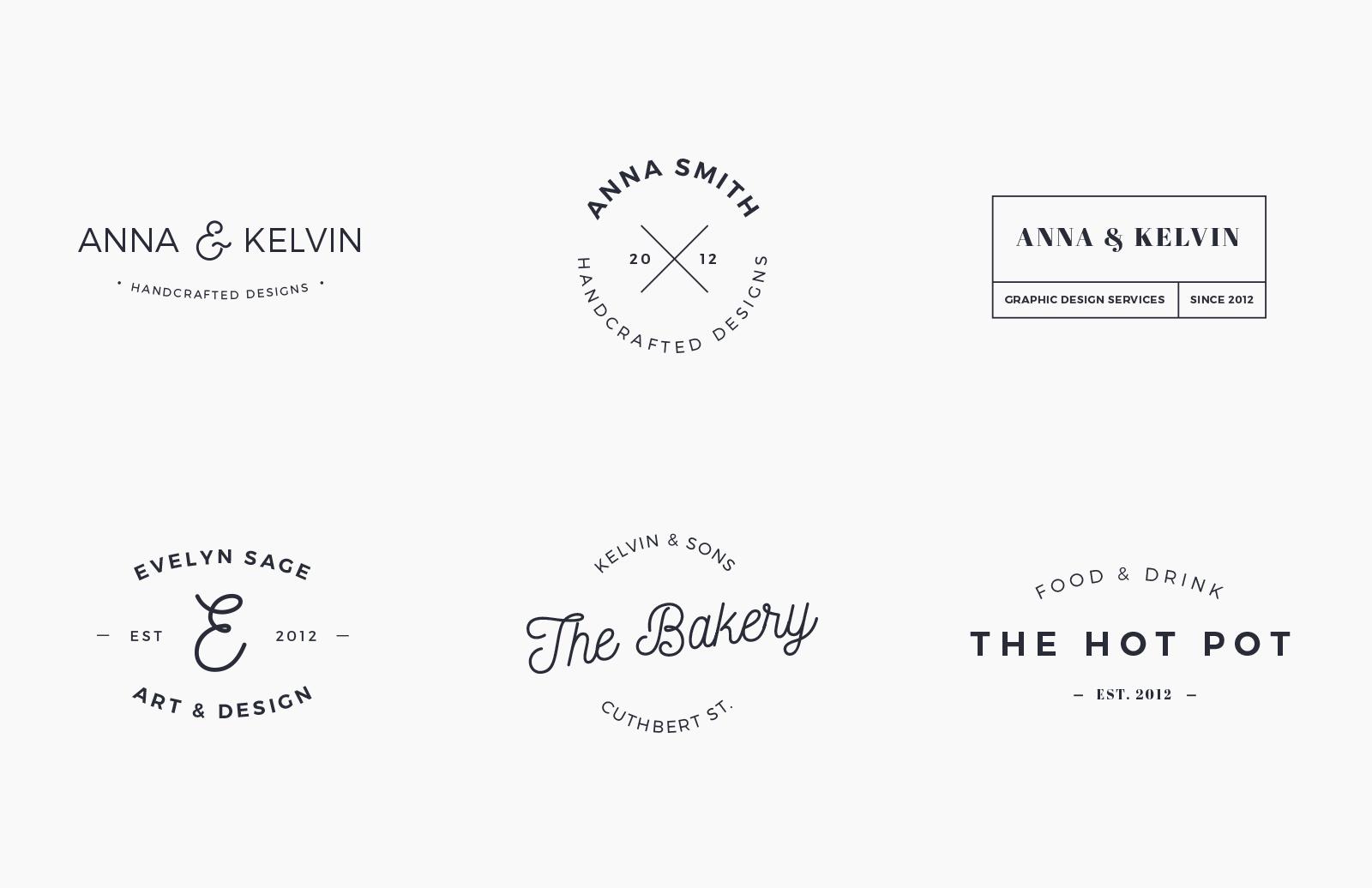 Logo & Branding Type Layouts - Vol 2