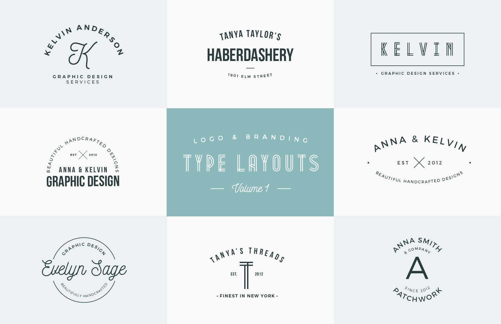 Logo & Branding Type Layouts - Vol 1