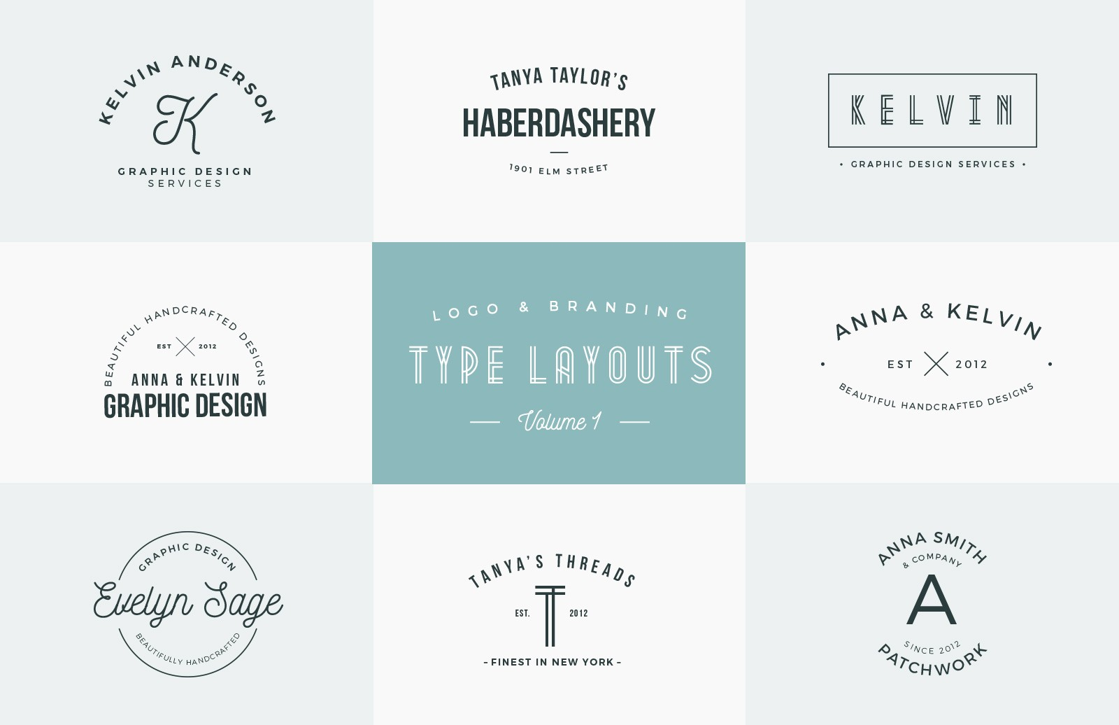 Logo & Branding Type Layouts - Vol 1