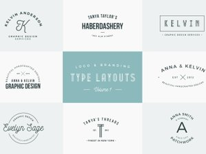 Logo & Branding Type Layouts - Vol 1 1