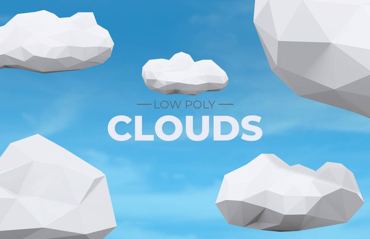 Low Poly Clouds Preview 1