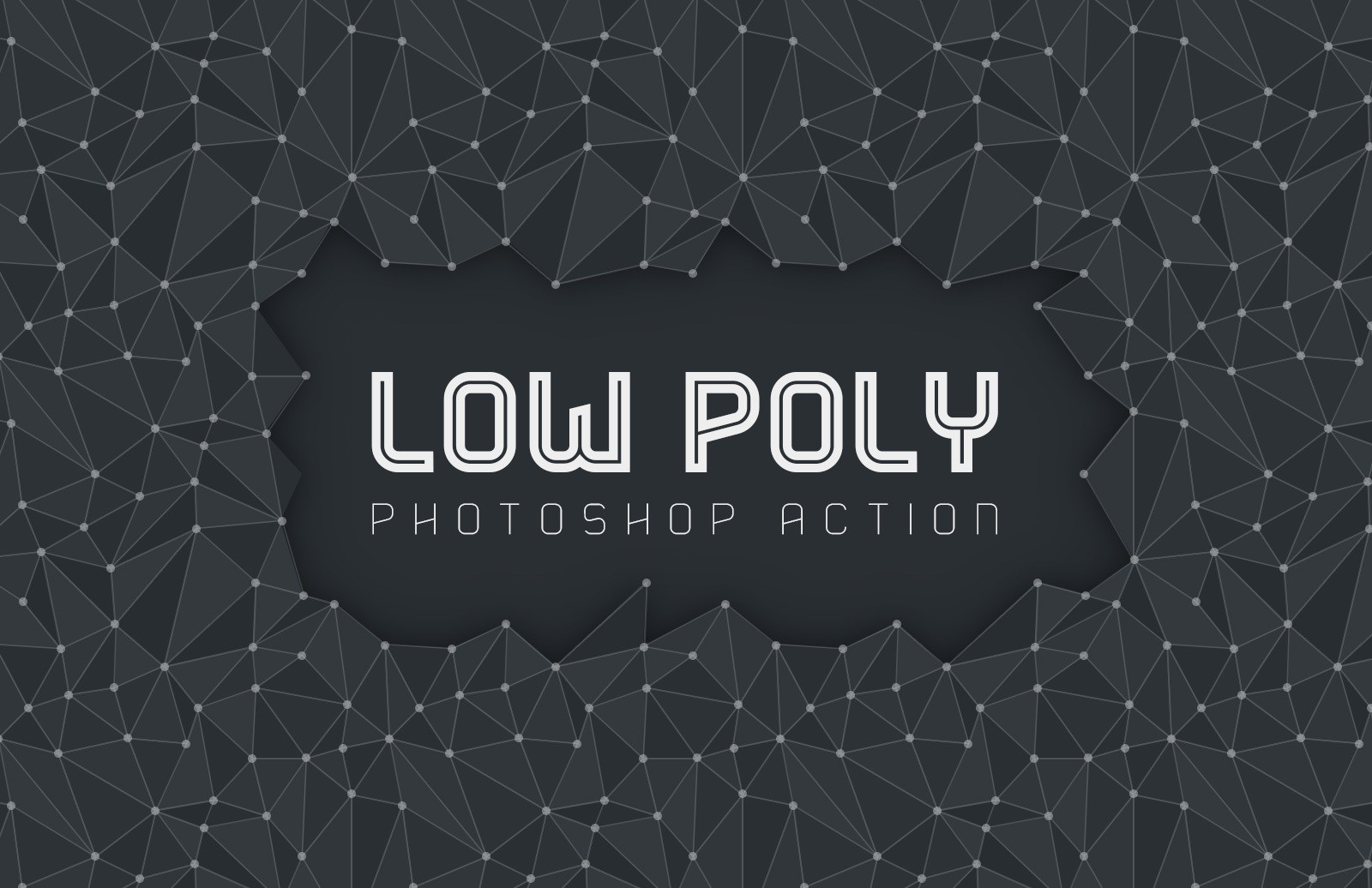Low Poly Photoshop Action Preview 1