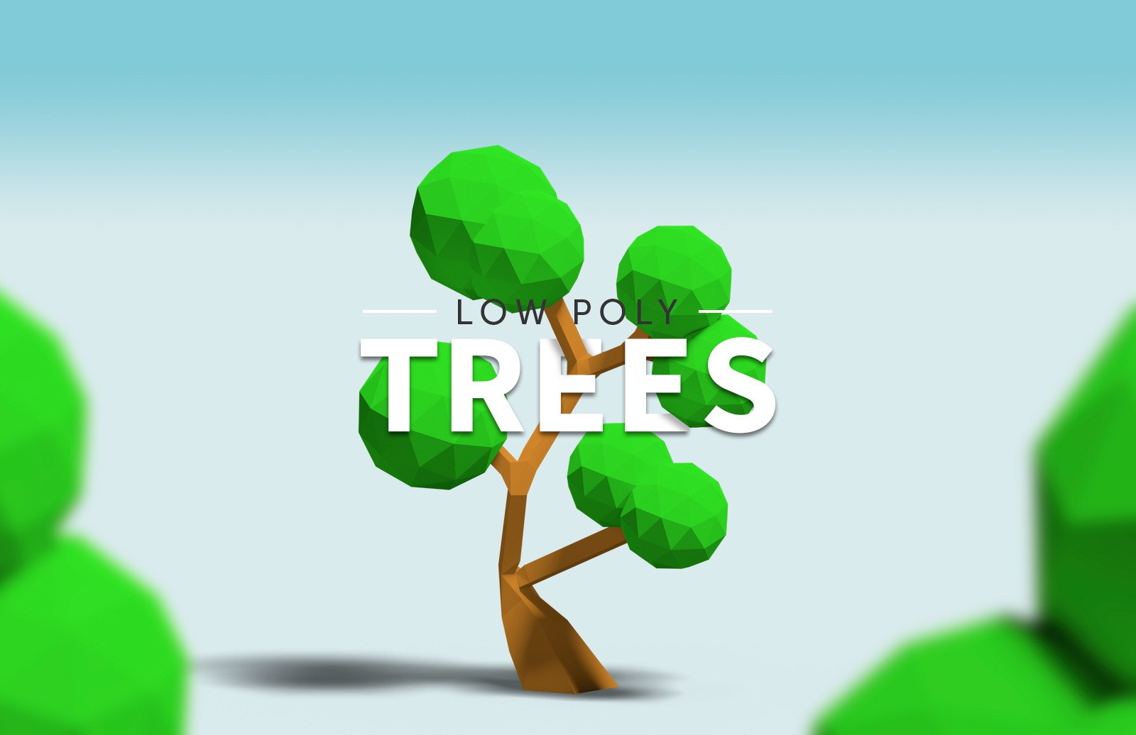 Low Poly Trees Preview 1