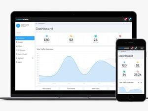 Lumino: Free Bootstrap Admin Template 1