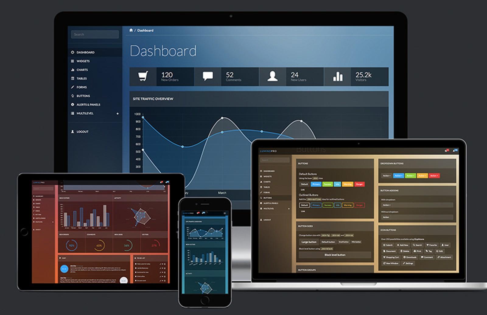 Lumino  Pro  Admin  Bootstrap  Template  Preview  Cover1