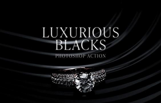 Luxurious Blacks Photoshop Action