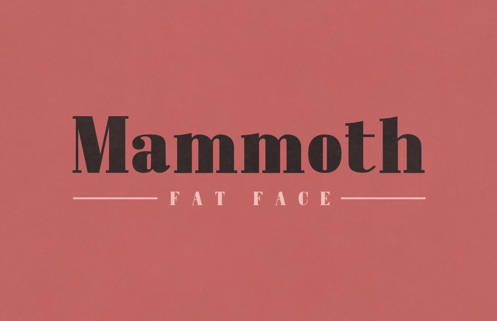 Mammoth Fat Face - Letterpress Font 1
