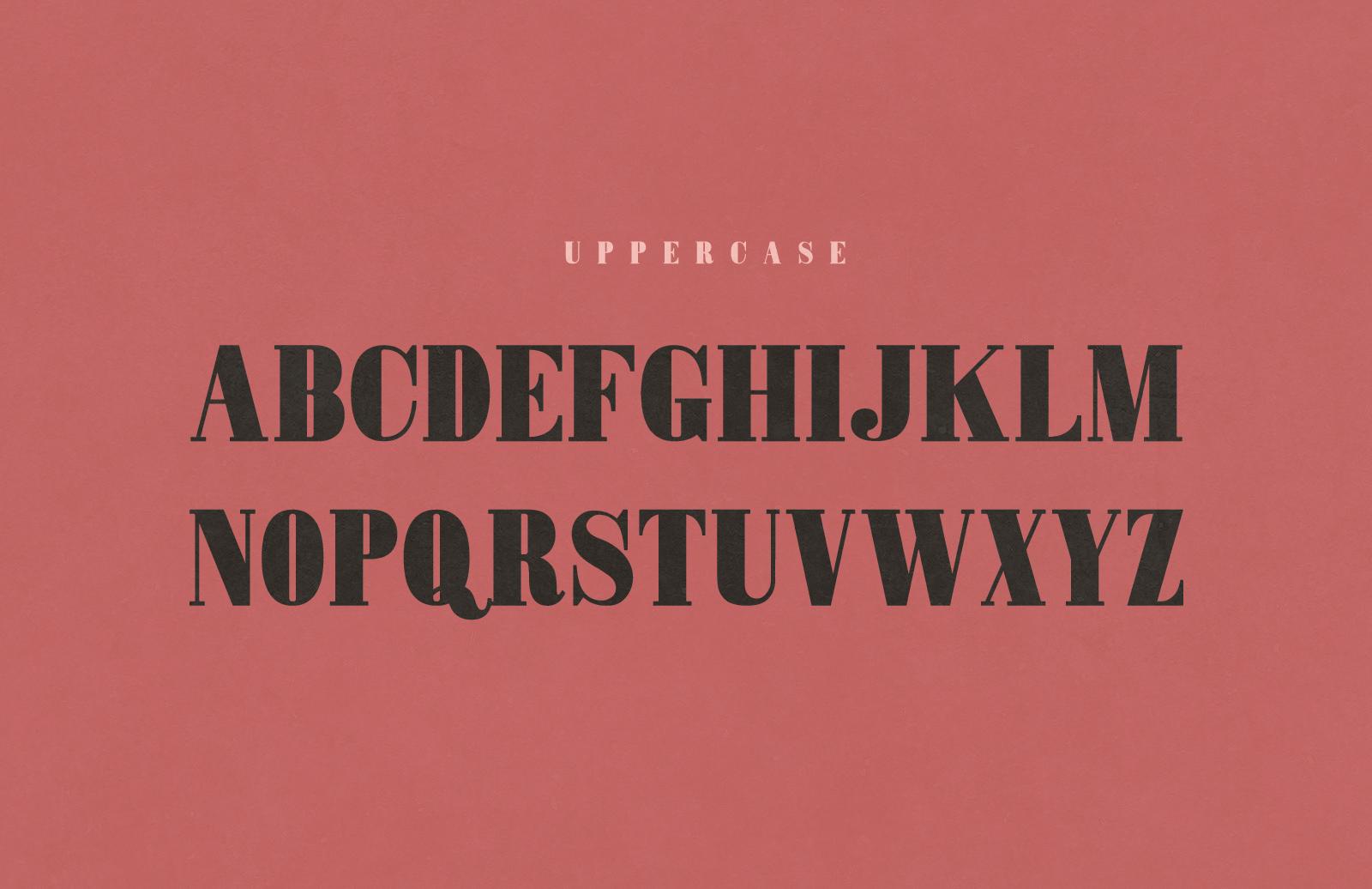 Mammoth Fat Face - Letterpress Font 2