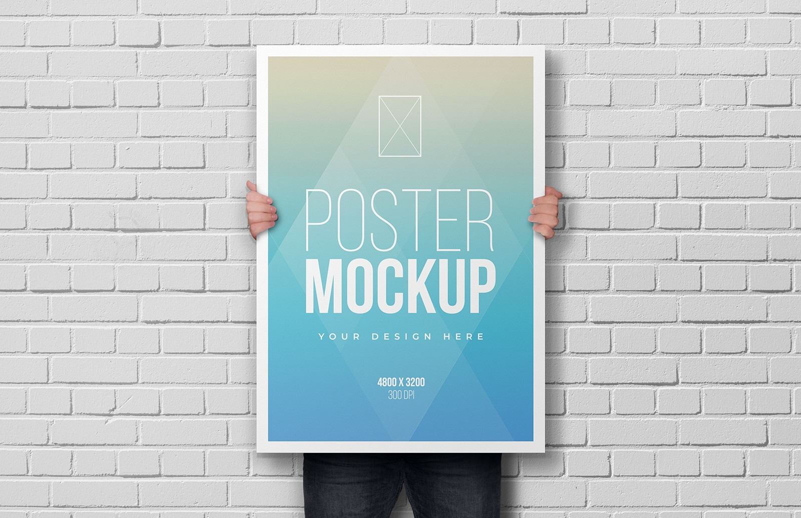 Man Holding Poster Mockup Preview 1