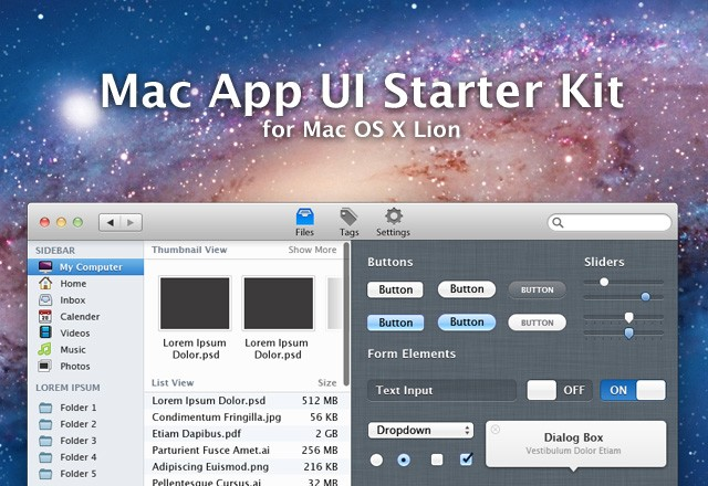 Mac App UI Kit 1