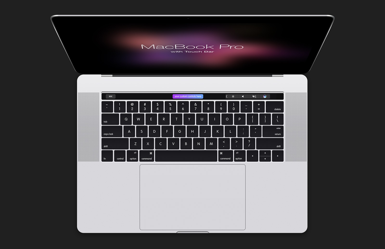 Large Mac Book  Pro With  Touch  Bar  Mockup  Preview 4B