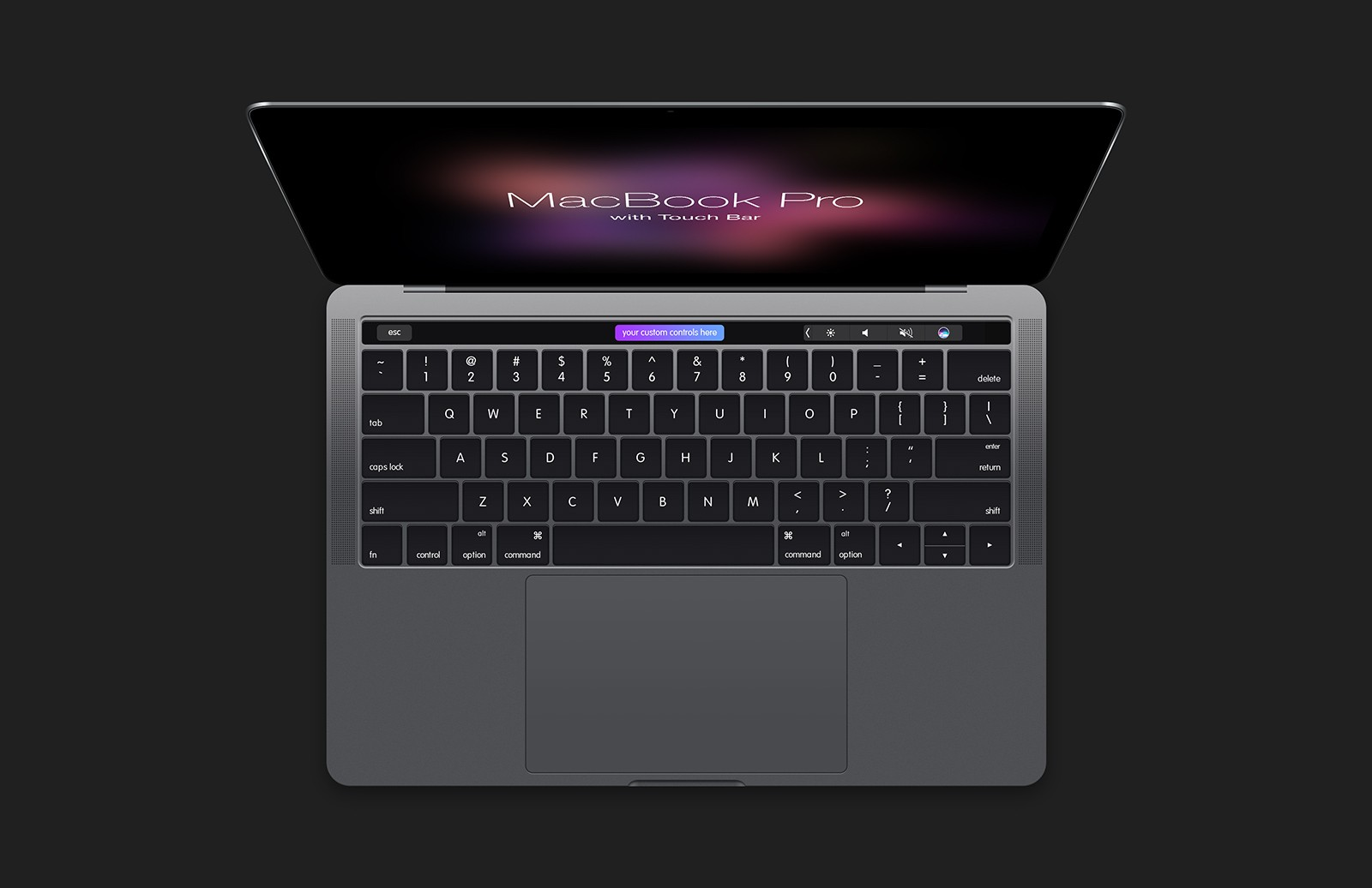 Mac Book  Pro With  Touch  Bar  Mockup  Preview 1B