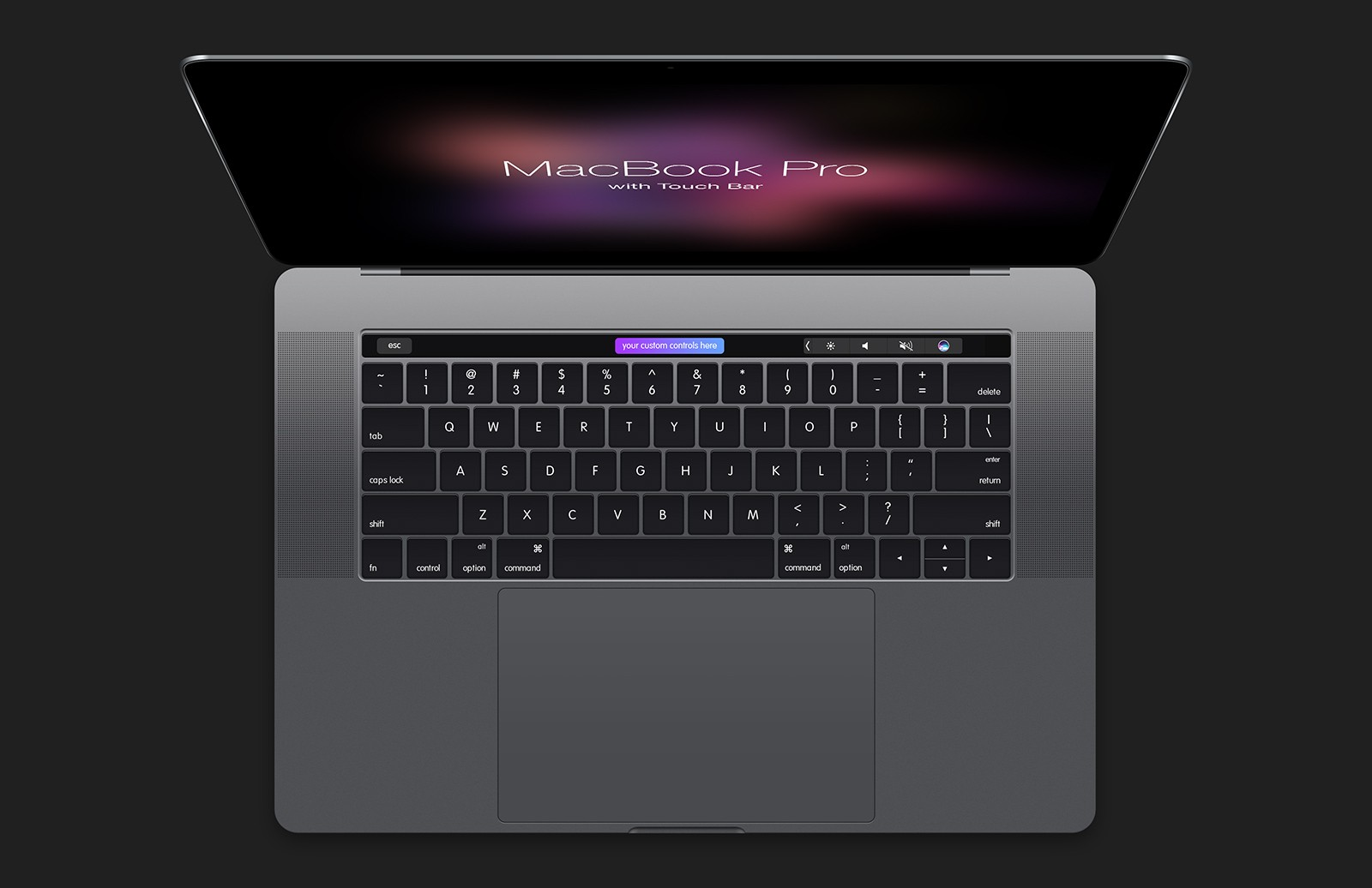 Mac Book  Pro With  Touch  Bar  Mockup  Preview 2B