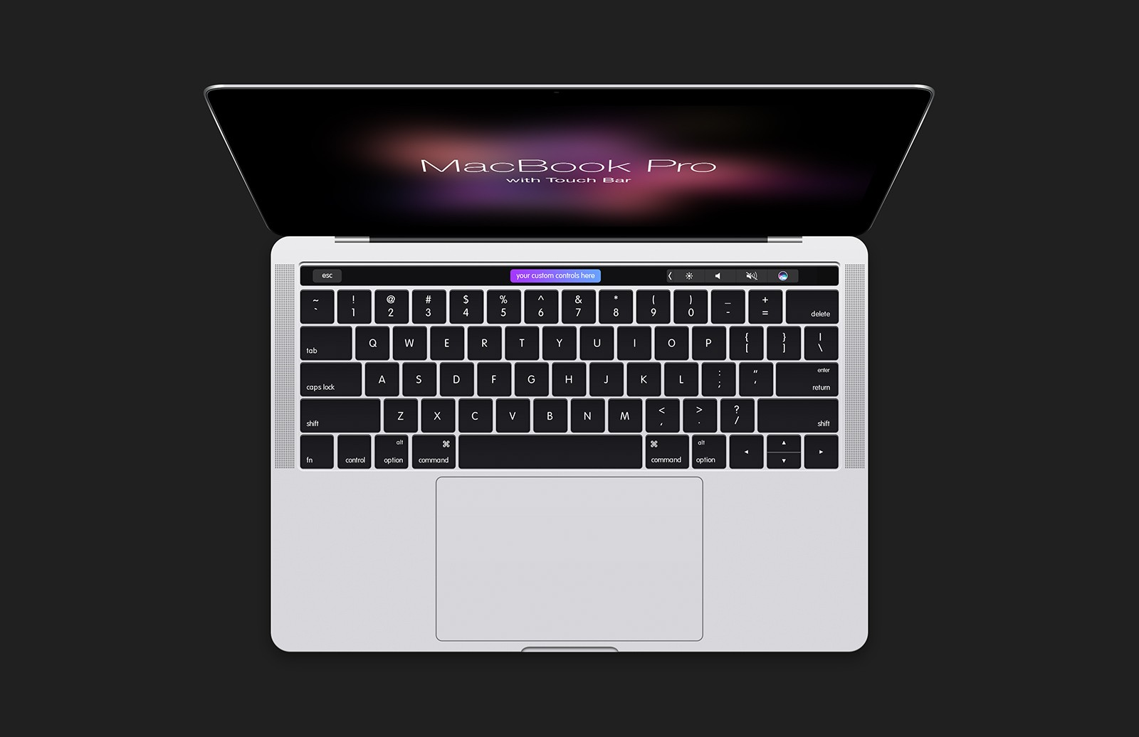 Large Mac Book  Pro With  Touch  Bar  Mockup  Preview 3B