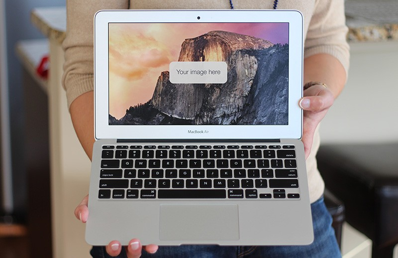 Macbook Air Presentation Mockup
