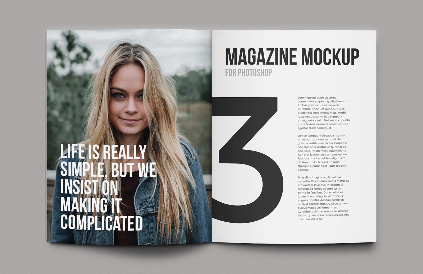 Magazine Mockup Template