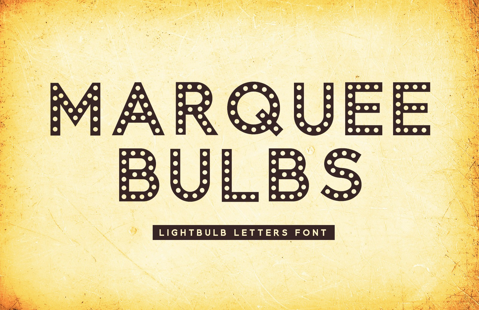 Marquee Bulbs - Lightbulb Letters Font