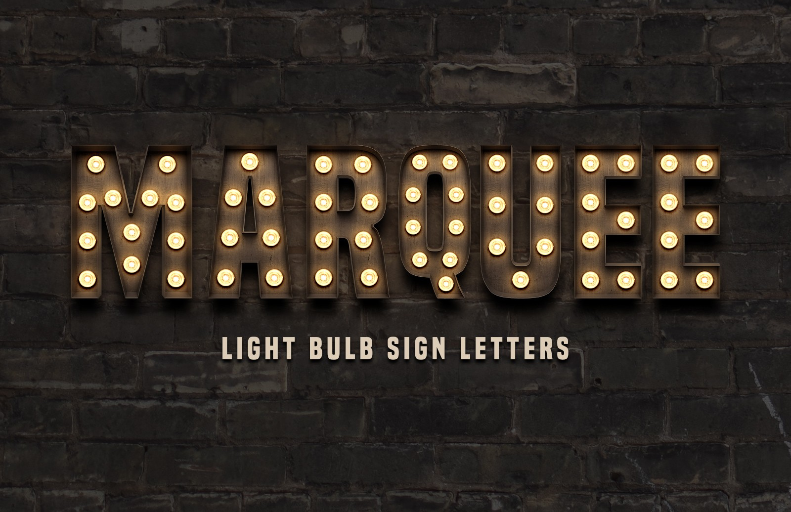 Marquee: Light Bulb Sign Letters
