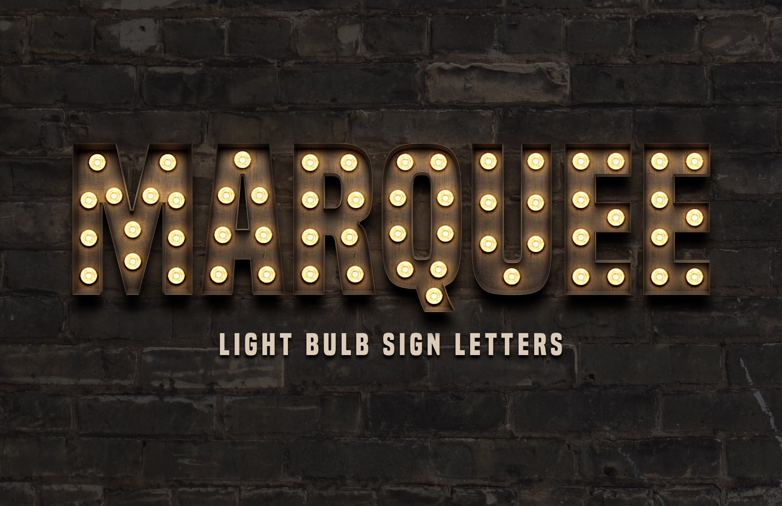 Marquee Light Bulb Sign Letters Preview 1A