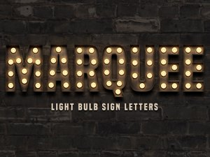Marquee: Light Bulb Sign Letters 1