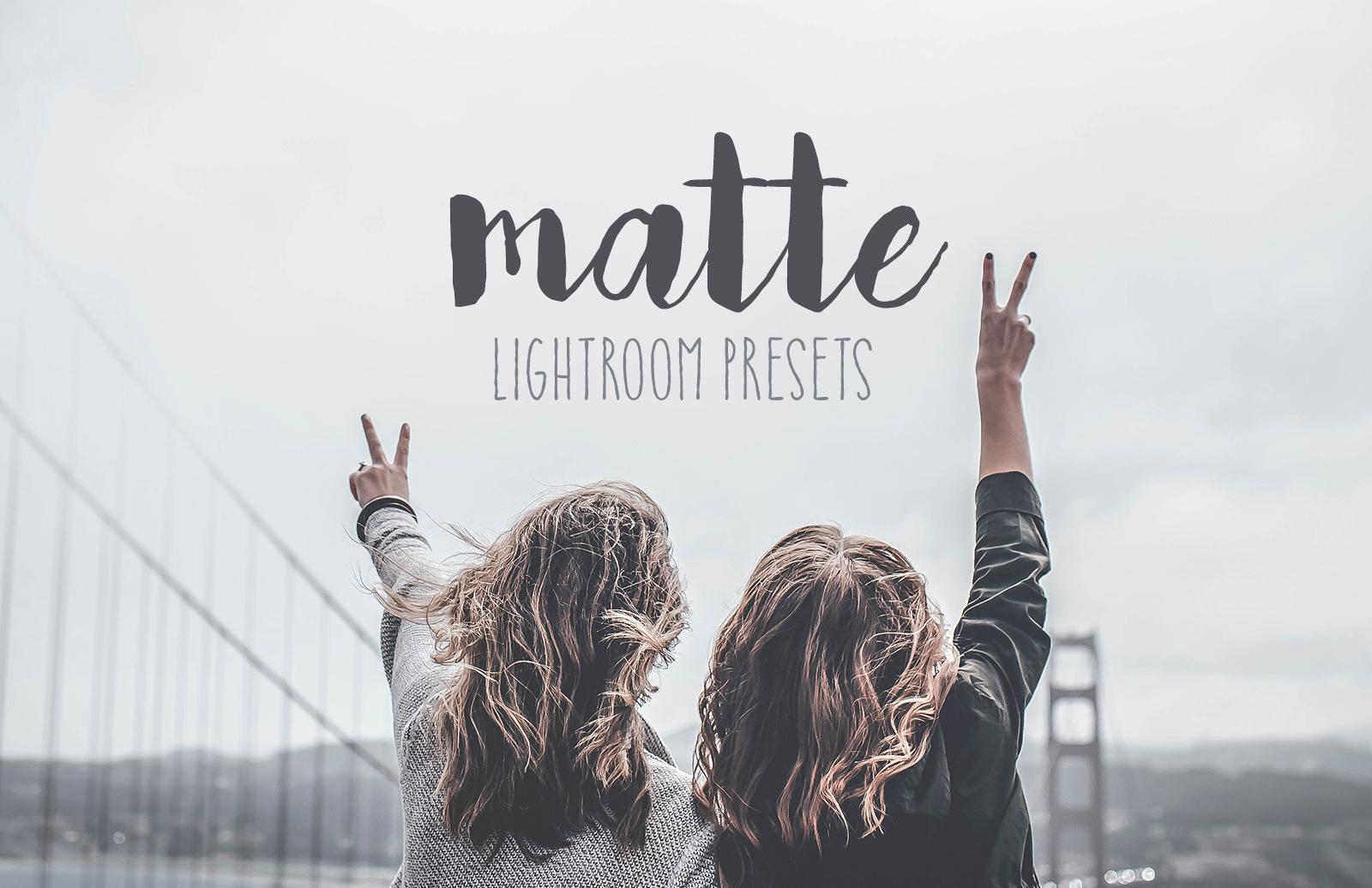 Matte Lightroom Presets 1
