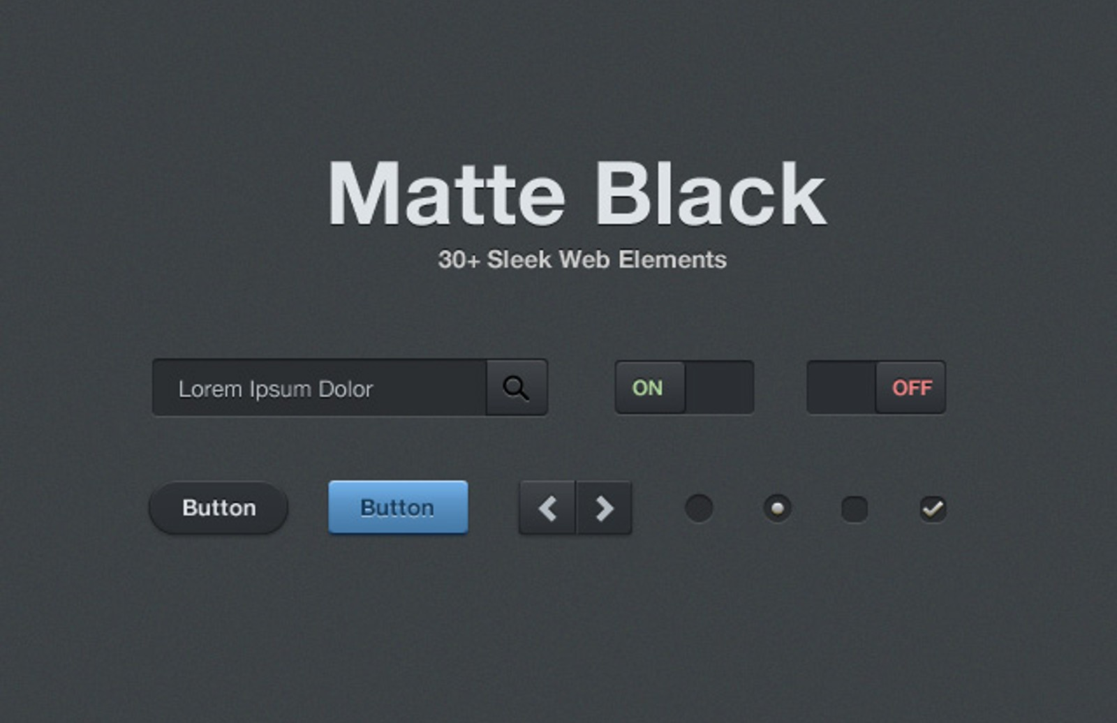 Matte  Black  Web  Elements  Preview1 1