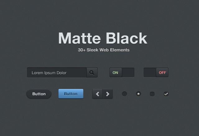 Matte Black Web Elements