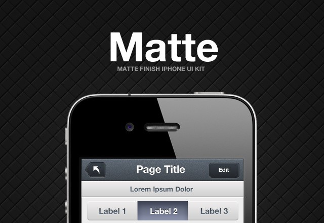 Matte iPhone UI Kit