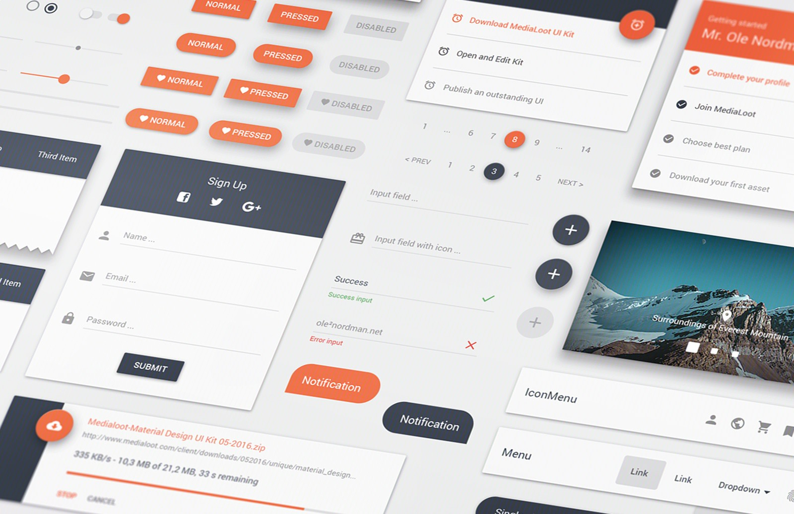 Material  Ui  Kit  Preview 1