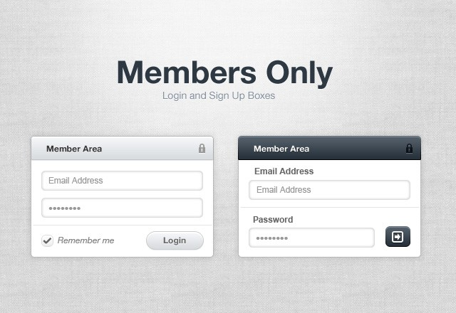 Members Only: Login Boxes