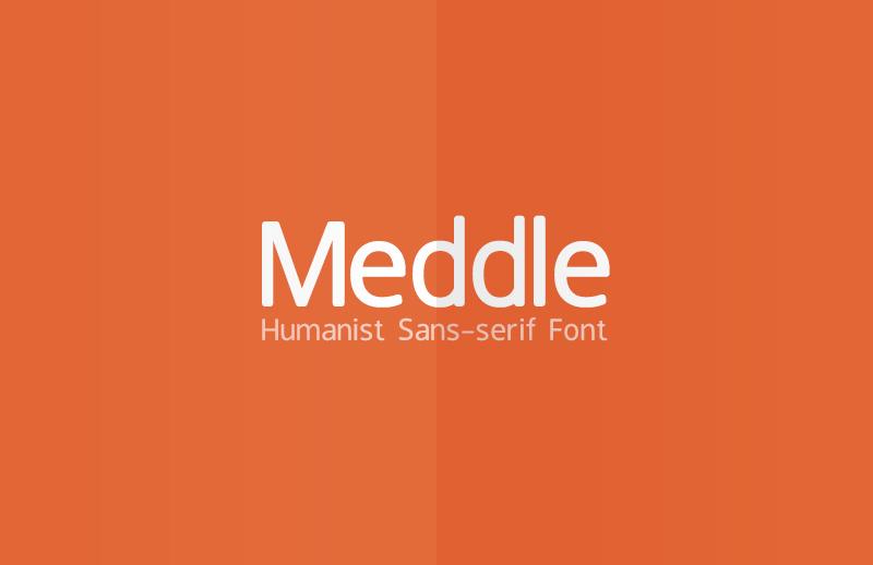 Meddle Sans-serif Font