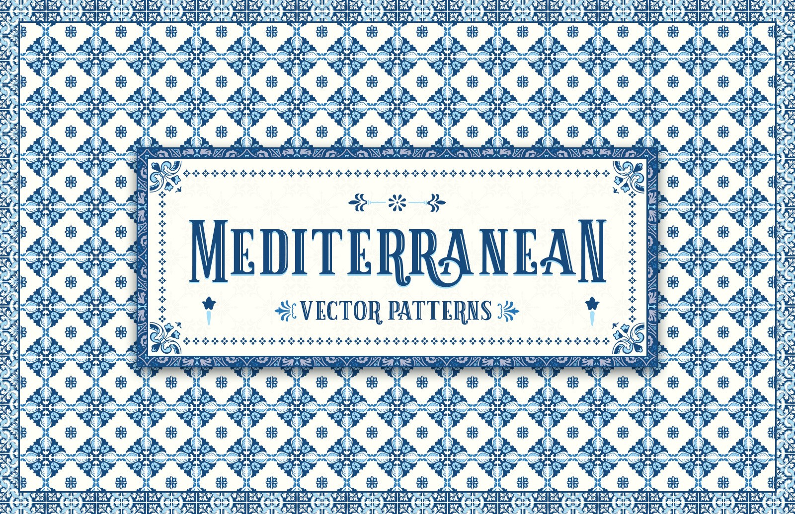 Mediterranean Vector Patterns Preview 1