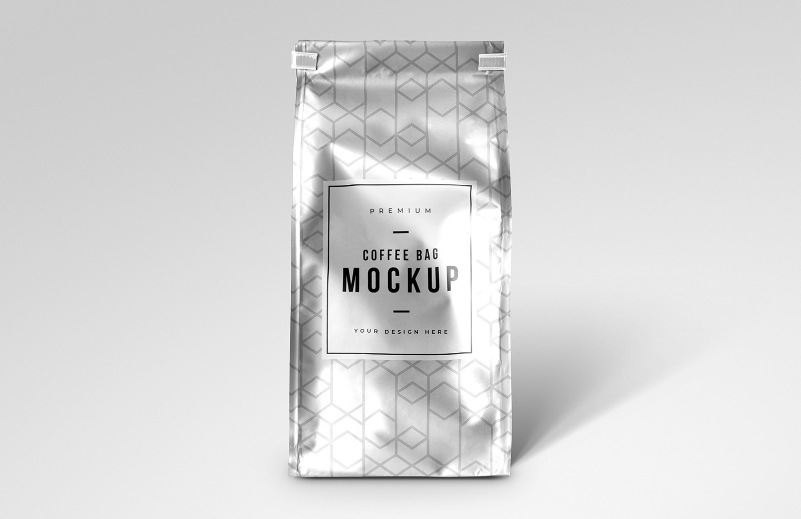 Metallic Premium Coffee Bag Mockup Preview 1