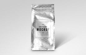 Metallic Premium Coffee Bag Mockup
