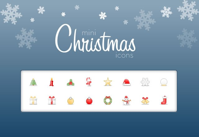 Large Mini  Christmas  Icons  Preview1