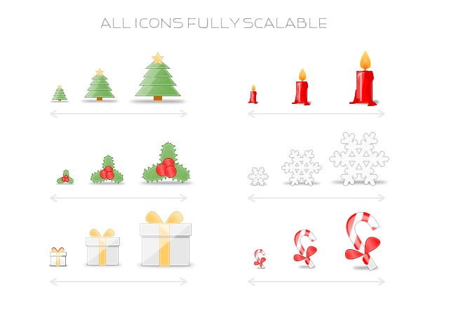 Large Mini  Christmas  Icons  Preview3