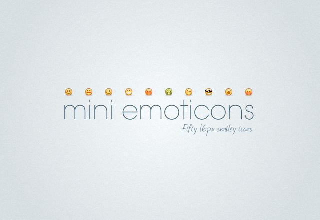 Mini Emoticons