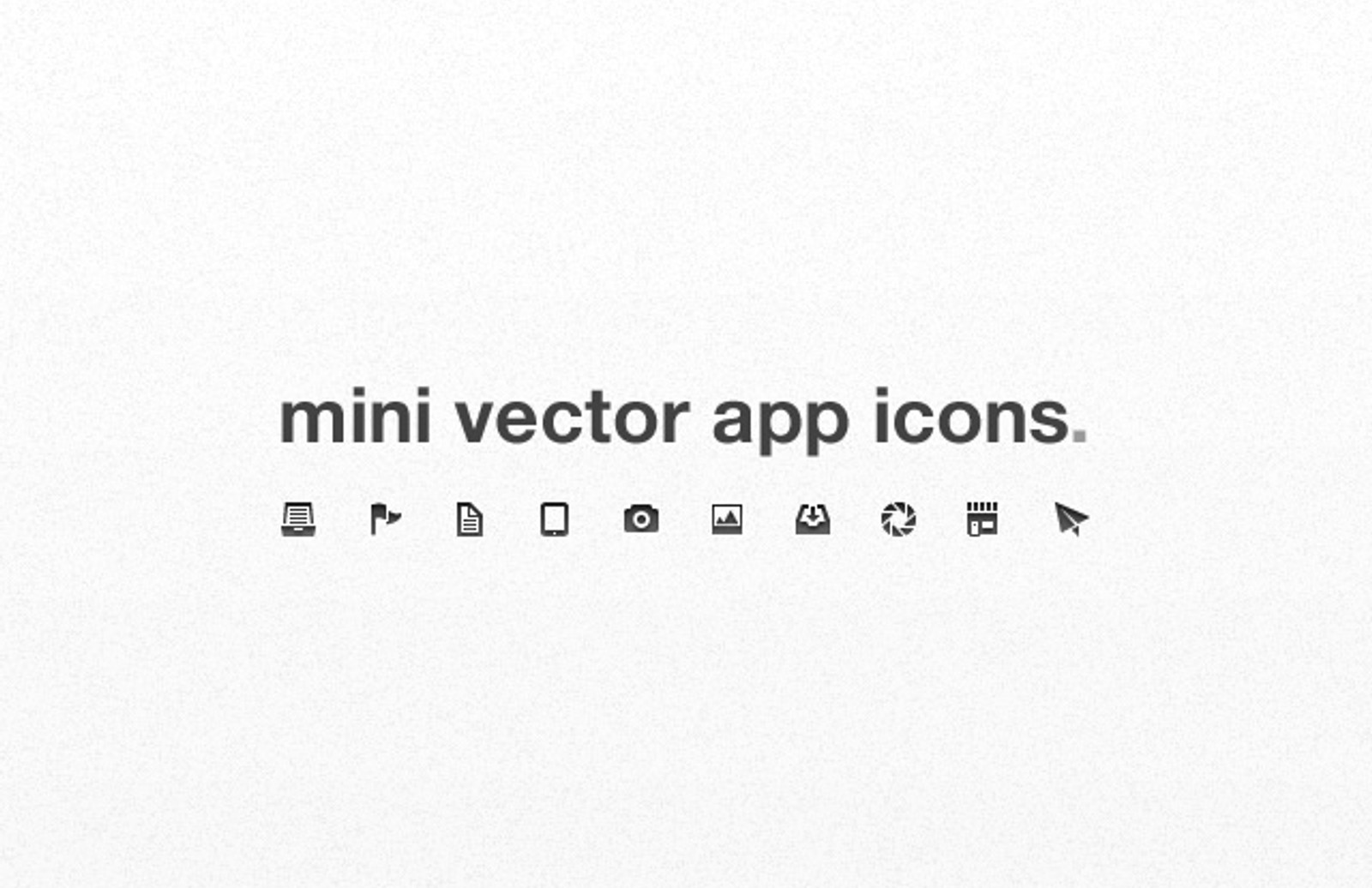 Mini  Vector  App  Icons  Preview1