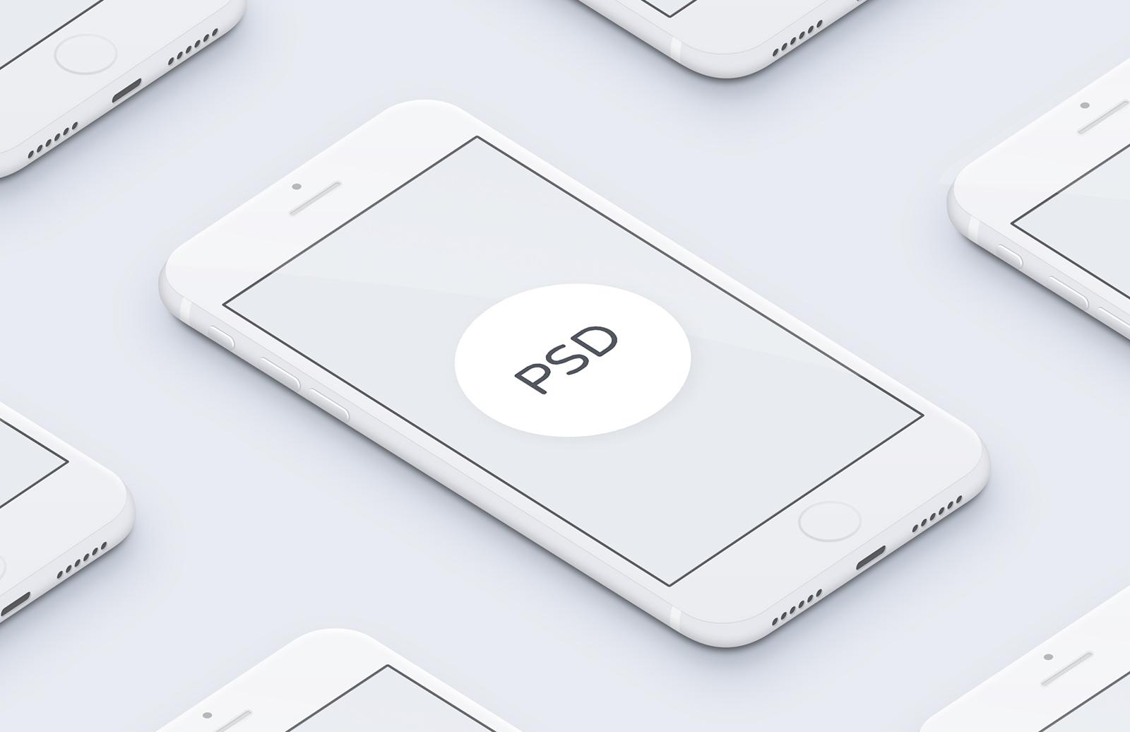 Minimal 3 D I Phone Mockups Preview 1