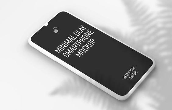 Minimal Clay Smartphone Mockup