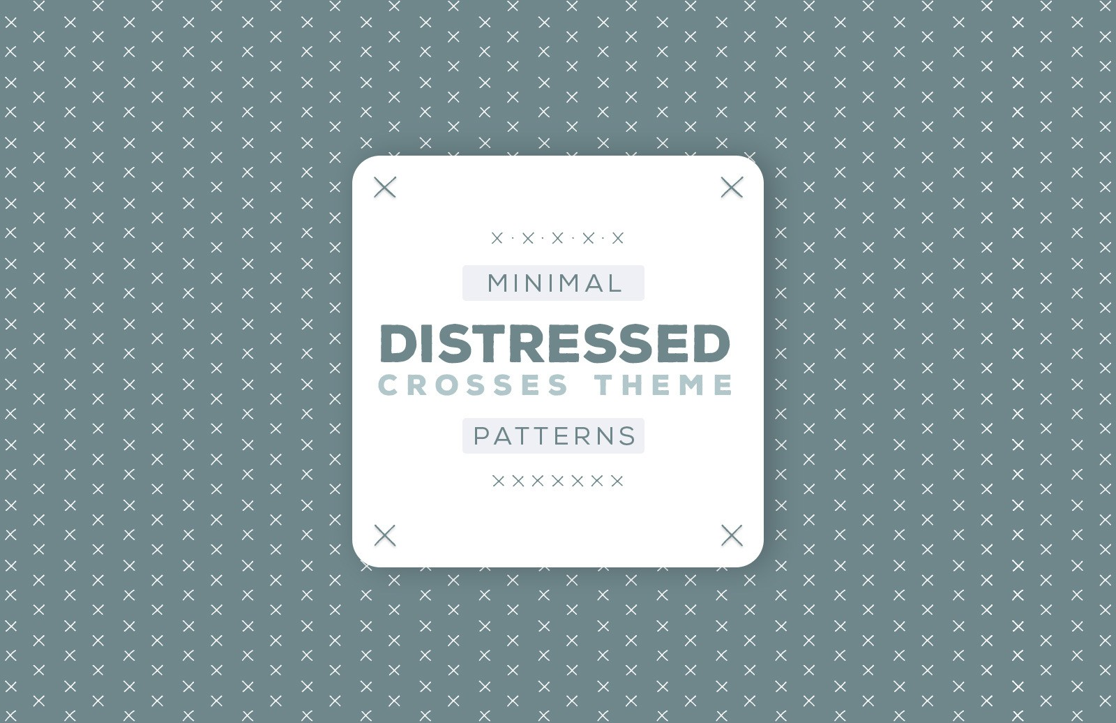 Minimal Distressed Vector Patterns