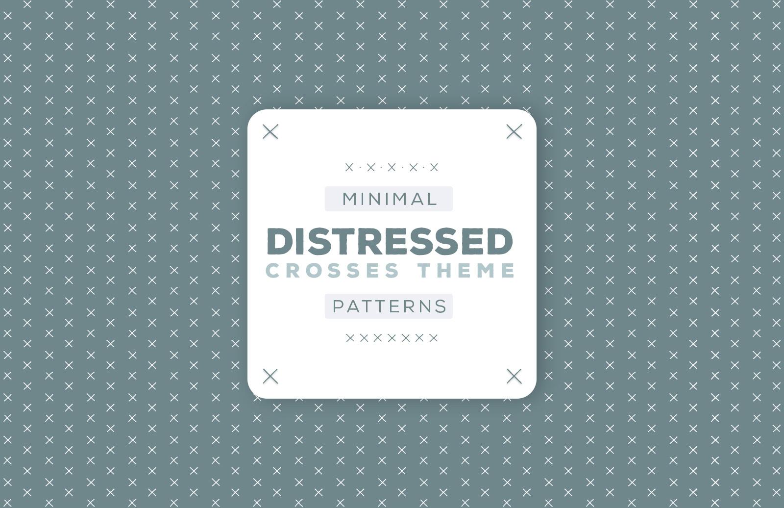 Minimal Distressed Vector Patterns
